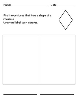 Identifying 2D Shape - Rhombus