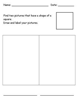Identifying 2D Shape - Square