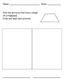 Identifying 2D Shape - Trapezoid