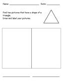 Identifying 2D Shape - Triangle