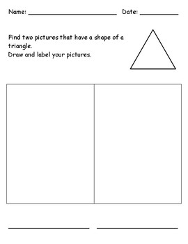 Identifying 2D Shape - Triangle
