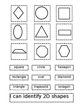 Identifying 2D Shapes