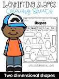 Identifying 2D Shapes Coloring Sheets