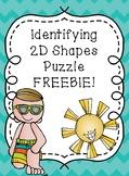Identifying 2D Shapes Puzzle FREEBIE Teacher Appreciation