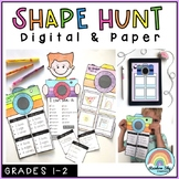 Identifying 2D Shapes and 3D Objects (Grade 1, Grade 2) Distance Learning