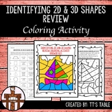 Identifying 2D and 3D Shapes Review