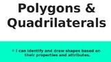 Identifying 2d Shapes (Polygons/Quadrilaterals)
