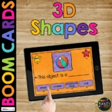 Identifying 3D Shapes BOOM CARDS™ Geometry Game with Solid Shapes