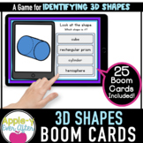 Identifying 3D Shapes | Boom Cards™ - Distance Learning