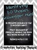 Identifying 3D Shapes Scavenger Hunt