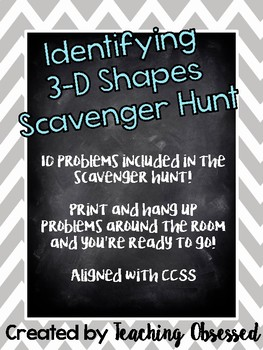 Identifying 3D Shapes Scavenger Hunt