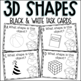 Identifying 3D Shapes Task Cards
