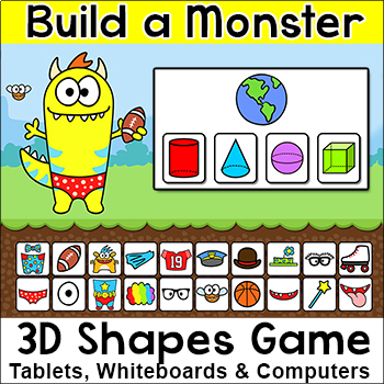 Identifying 3D Shapes in the Real World - Build a Monster Interactive Math Game