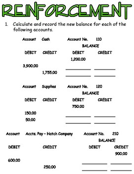 Identifying Account Numbers & Debit/Credit Transaction Pieces