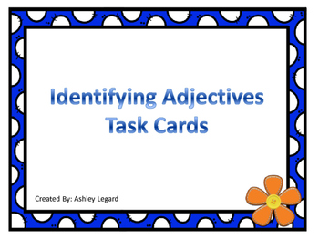 Identifying Adjective Task Cards