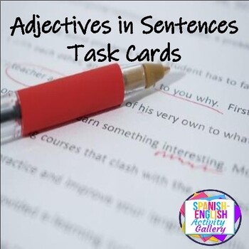 Adjectives in a Sentence Task Cards