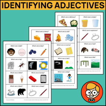 Identifying Adjectives with Two Visual Answer Choices