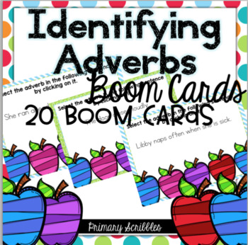 Identifying Adverbs Boom Task Cards