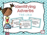 Identifying Adverbs Task Cards- Color & B&W