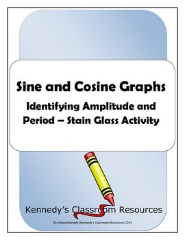 Identifying Amplitude and Period of Sine and Cosine Graphs - Stained Glass