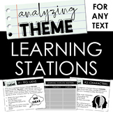 Analyzing Theme Learning Stations: Activity for ANY TEXT -