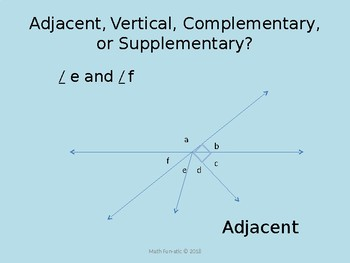Identifying Angle Relationships