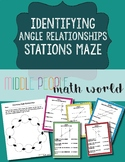 Identifying Angle Relationships (8th Grade) Station Maze