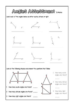 Identifying Angles - Assessment