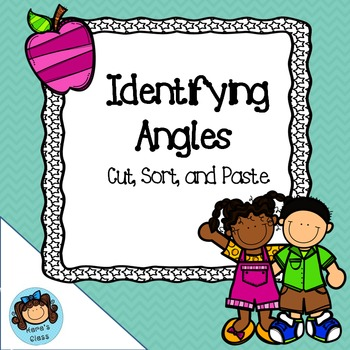 Identifying Angles- Cut, Sort, and Paste