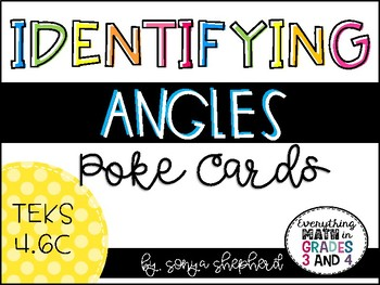 Identifying Angles Poke Cards - TEKS 4.6C