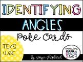 Identifying Angles Poke Cards - TEKS 4.6C