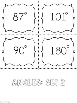Identifying Angles SPOONS Game