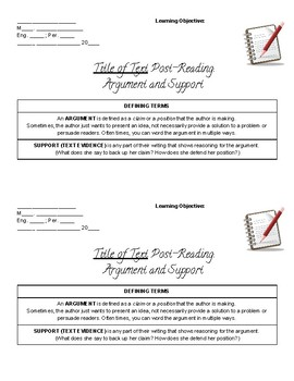 Identifying Argument and Support