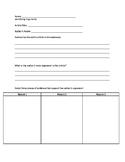 Identifying Arguments Worksheet