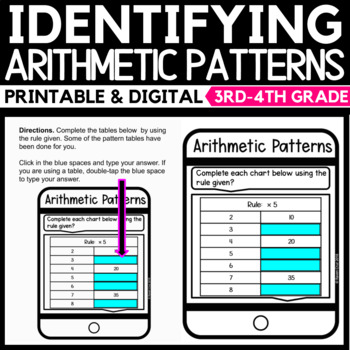 Identifying Arithmetic Patterns Task Cards