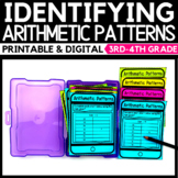 Identifying Arithmetic Patterns Task Cards - Classroom and