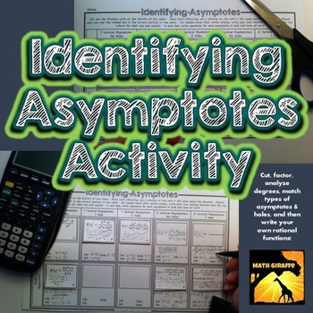 identifying asymptotes activity by math giraffe tpt. Black Bedroom Furniture Sets. Home Design Ideas