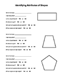 Identifying Attributes of Shapes