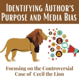 Identifying Author's Purpose and Bias Using the coverage of Cecil the Lion