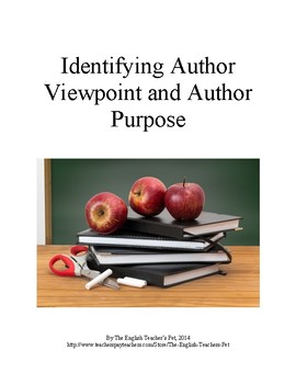 Identifying Author's Viewpoint and Author's Purpose