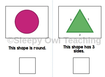 Identifying Basic Shapes Adapted Books - Level 1 and Level 2