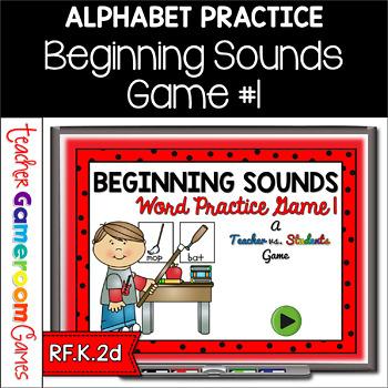 Identifying Beginning Sounds - Teacher vs. Student Game 1