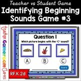 Identifying Beginning Sounds - Teacher vs. Student Game 3