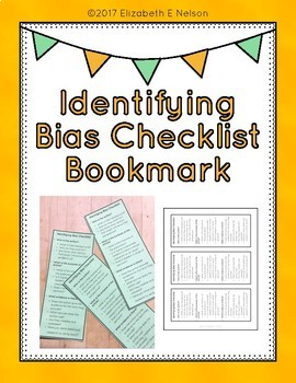 Identifying Bias Checklist: bookmark to help students fact check