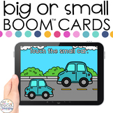 Identifying Big or Small Boom™ Cards - Distance Learning f