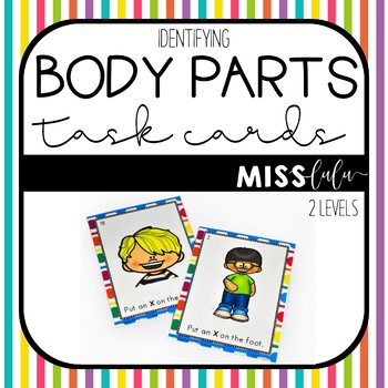 Identifying Body Parts Task Cards