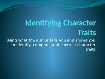 Identifying Character Traits