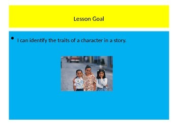 Identifying Character Traits Through Literature with Lesson Plan