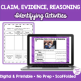 Identifying Claim Evidence Reasoning BOOM CARDS™️
