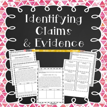 Identifying Claims & Evidence: Short Passages